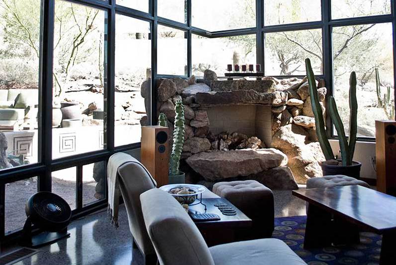 Lovely fireplace of custom home in Phoenix