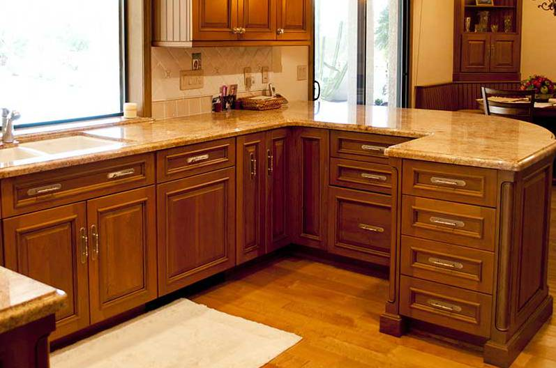beautiful cabinets of custom home in Phoenix